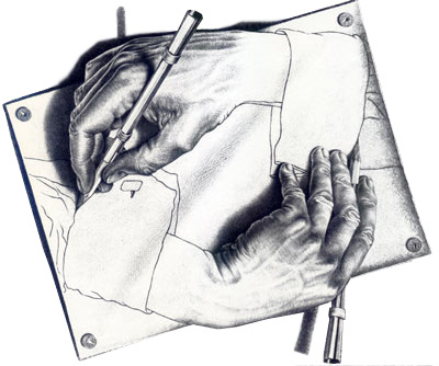 Maurits Cornelis Escher - drawing-hands